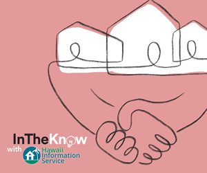 pink hand shake HIS in the know graphic